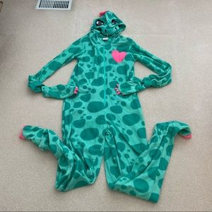 Dinosaur fleece onesie size S